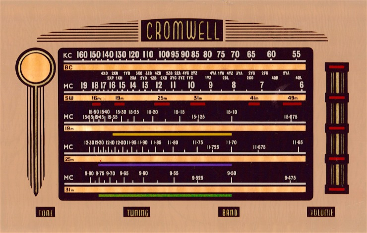 Cromwell 5-band rectangular dial