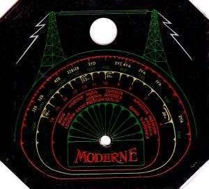 Moderne dial (black backround)