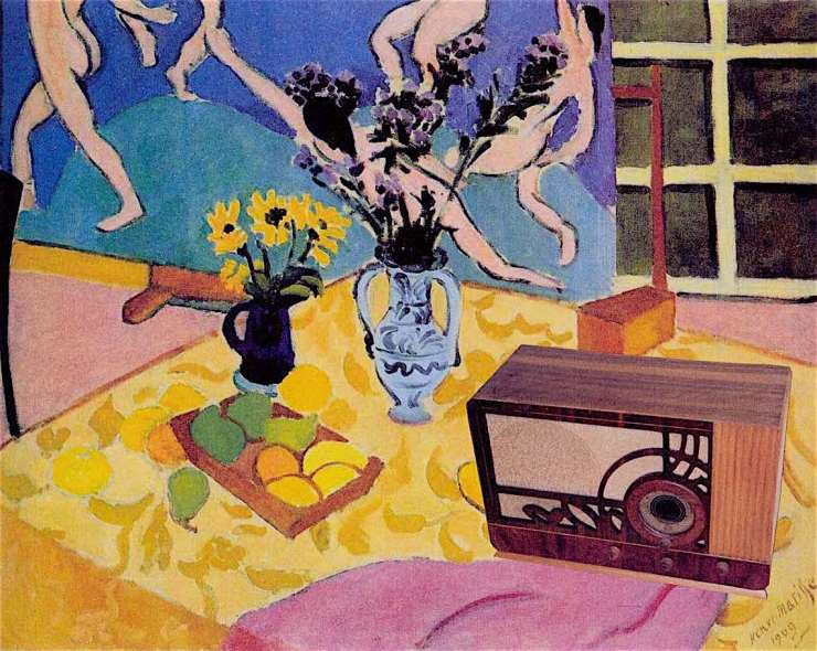 Matisse - still life with Stewart-Warner R130X